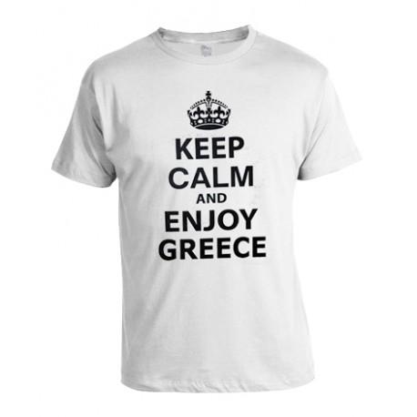 KEEP CALM AND ENJOY GREECE T SHIRT