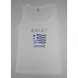 GREEK FLAG SLEEVELESS T SHIRT