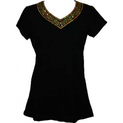 V-NECK WOMEN T SHIRT