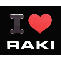 I LOVE RAKI T SHIRT