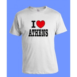 I LOVE ATHENS T SHIRT