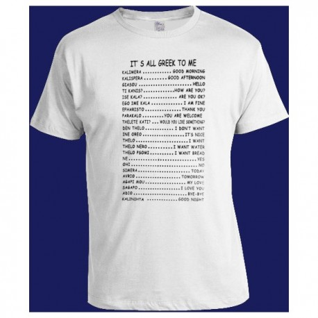 IT' S ALL GREEK TO ME T SHIRT