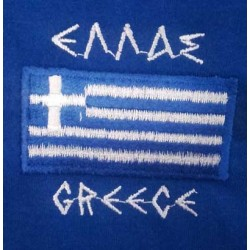 T SHIRT WITH THE SMALL GREEK FLAG EMBROIDERED