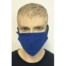 2 LAYER FACE MASK ROYAL BLUE