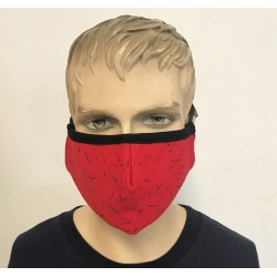 2 LAYER RED MASK FLEECE