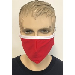 2 LAYER FACE MASK RED FOR ADULT