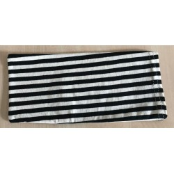 POUCH WITH BLACK STRIPES FOR MASK