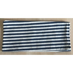 POUCH WITH DENIM STRIPES FOR MASK