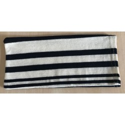 POUCH WITH PIQUE MARIN STRIPES FOR MASK