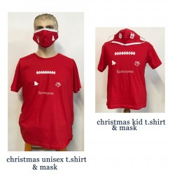 CHRISTMAS SET ADULT & KID T.SHIRTS WITH MASKS