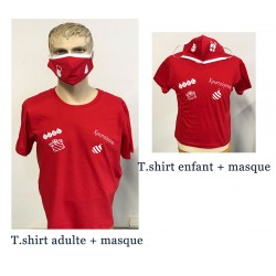 NOEL SET ADULT & KID T.SHIRTS WITH MASKS