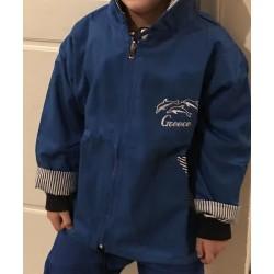 KID JACKET ROYAL BLUE EMBROIDERED