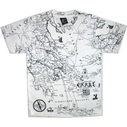 MAP OF GREECE T SHIRT