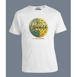 GREEK ALPHABET IN A CIRCLE T SHIRT