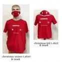 SET ADULT & KID T.SHIRTS AND MASKS FOR CHRISTMAS