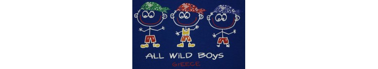 ALL WILD BOYS KID'S T SHIRT